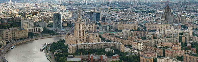 панорама москвы. фото